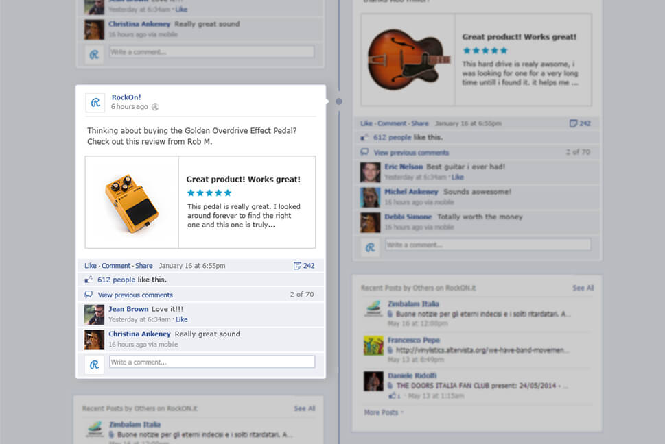 Yotpo Review Facebook Share