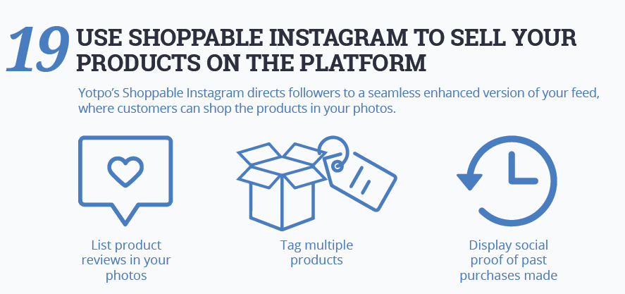 Use shoppable Instagram to sell products